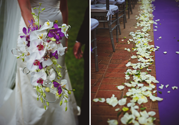 9 purple orchid wedding Destination Wedding at the Biltmore Estate, Asheville, NC