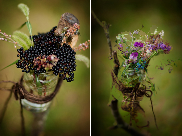 blackberry wedding flowers Destination Wedding in Poitou Charente, France