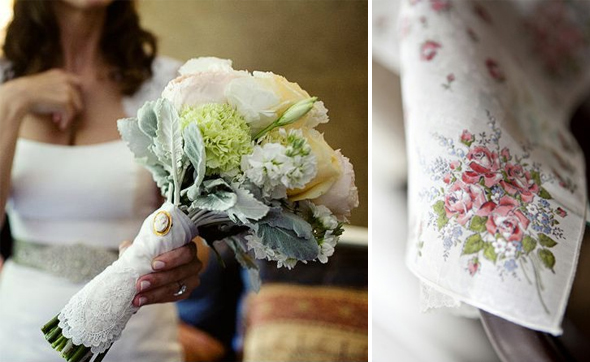 bridal bouquet hanky Irish Wedding Traditions