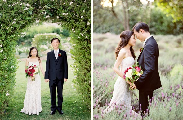 celebrity wedding photo san ysidro ranch