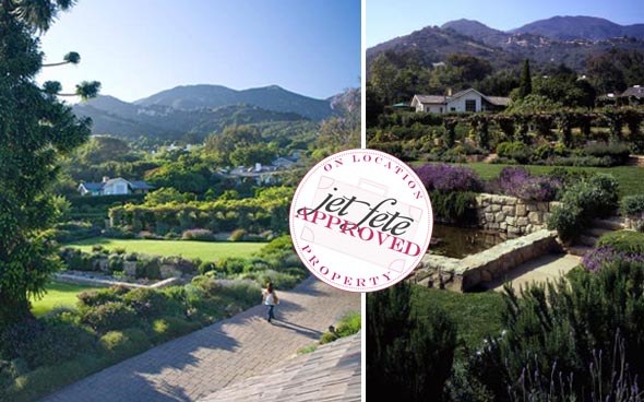 celebrity wedding san ysidro ranch