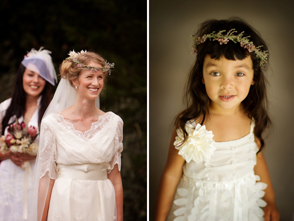 flower girl wreaths Rustic Destination Wedding in France Re Run