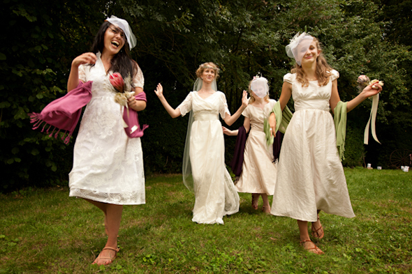 funky bridesmaid dresses Rustic Destination Wedding in France Re Run