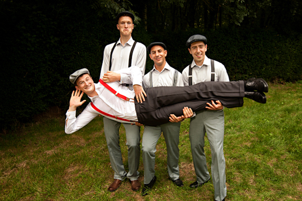 groomsmen suspenders Destination Wedding in Poitou Charente, France