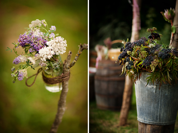 mason jar wedding details Destination Wedding in Poitou Charente, France