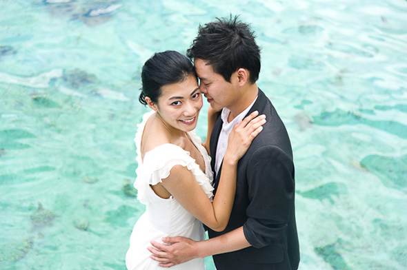 over water bungalows destination wedding