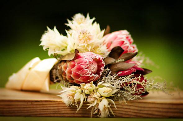 pink and white bridal bouquet Rustic Destination Wedding in France Re Run