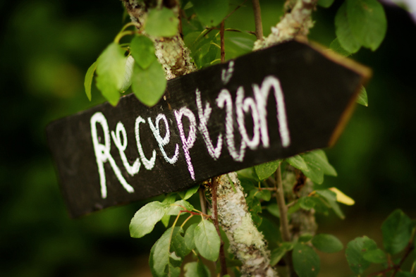 reception signs Rustic Destination Wedding in France Re Run