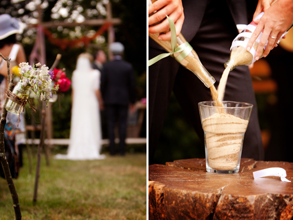 sand ceremony Rustic Destination Wedding in France Re Run