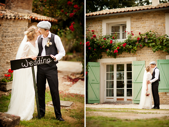 wedding signs Destination Wedding in Poitou Charente, France
