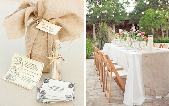 burlap wedding details Burlap Weddings