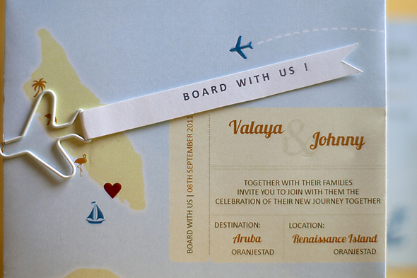 destination wedding invitation Destination Wedding in Aruba