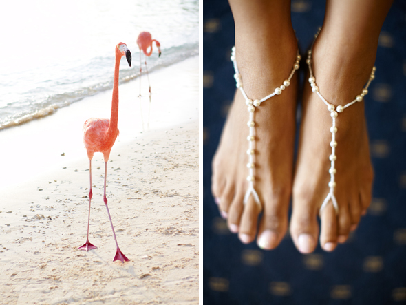 foot jewelry for beach weddings Destination Wedding in Aruba