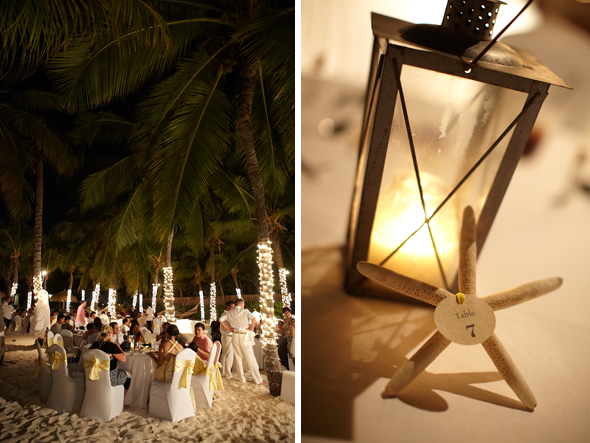 lantern centerpieces destination wedding Destination Wedding in Aruba