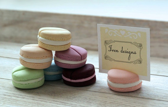 macaroon place cards1 European Destination Wedding Place Cards