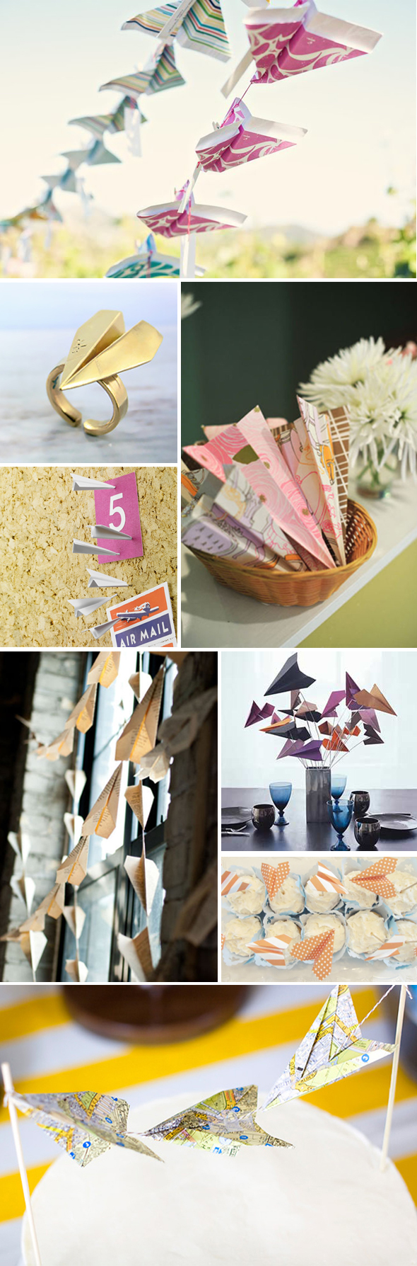 paper airplane wedding ideas Paper Airplane Destination Wedding Ideas