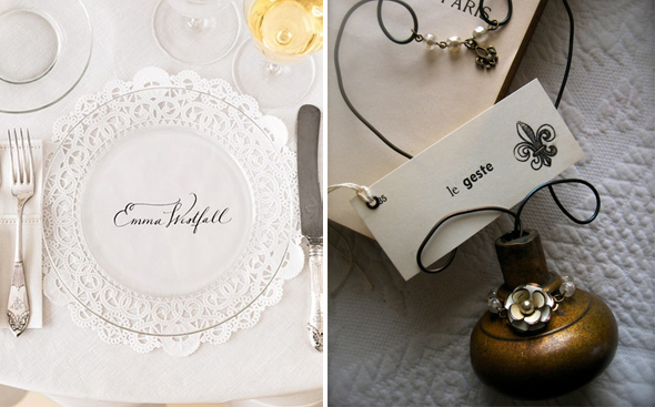 paris place card wedding