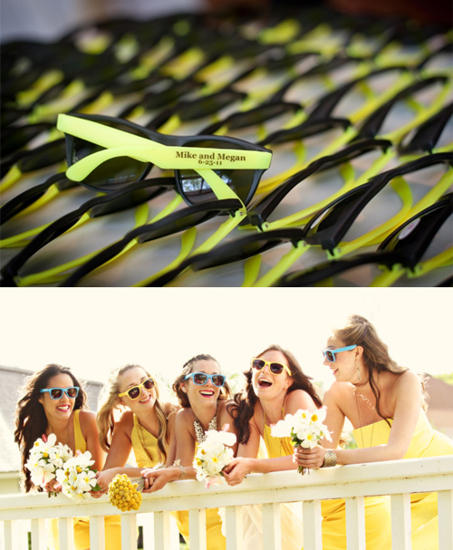 wedding sunglass favors
