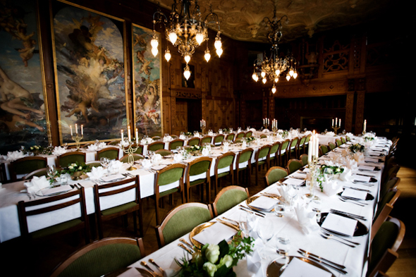 20 wedding feasting tables Destination Wedding in Sweden