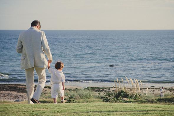 beach wedding ring bearer