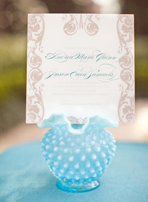 blue and white wedding