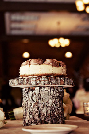 cake wood stumps St. Simons Island, Georgia Destination Wedding