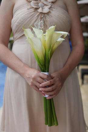 calalilly bridesmaid bouquet