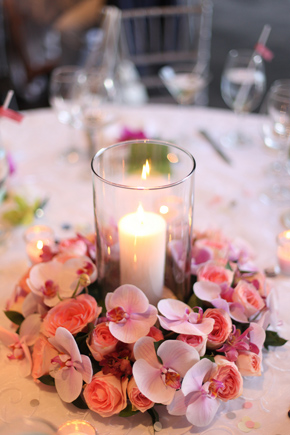 candle centerpieces at weddings Costa Rica Destination Wedding