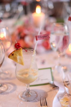 destination wedding drink flags