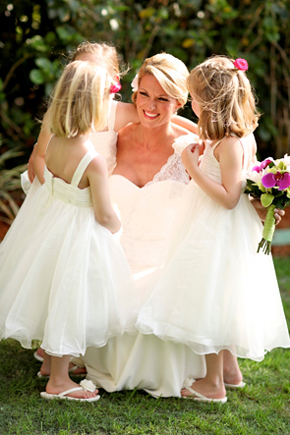 destination wedding flower girls1 Destination Wedding in Naples, Florida