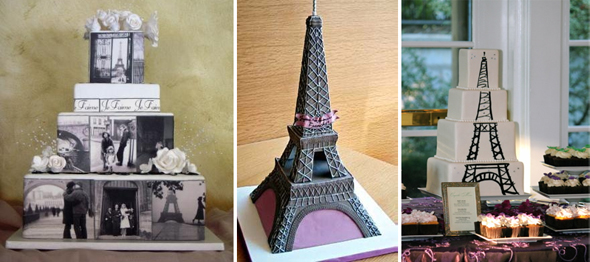 eiffel tower wedding cakes
