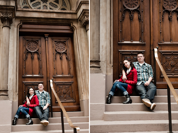 engagement photos NYC Destination Proposal