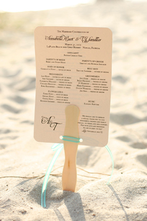fan wedding programs1 Destination Wedding in Naples, Florida