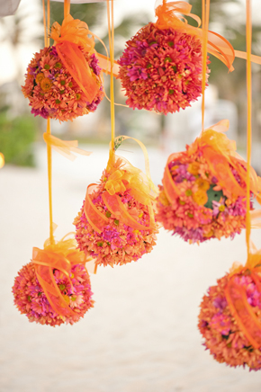 flower balls Destination Wedding Punta Cana, Dominican Republic