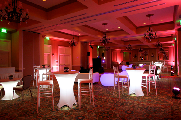 light up wedding furniture Destination Wedding in Naples, Florida