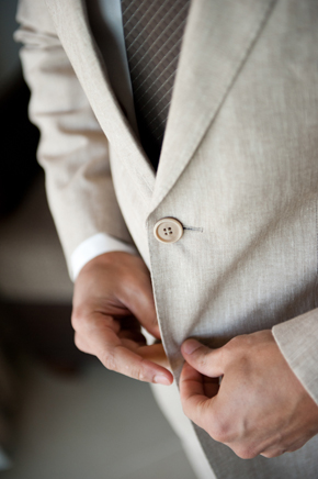 linen groom's suit