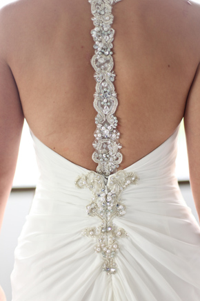 low back wedding dress Costa Rica Destination Wedding
