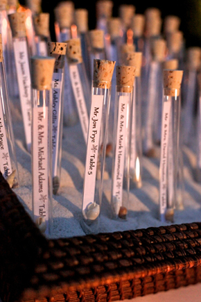 message in a bottle place card