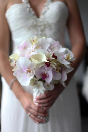 orchid bouquets Costa Rica Destination Wedding