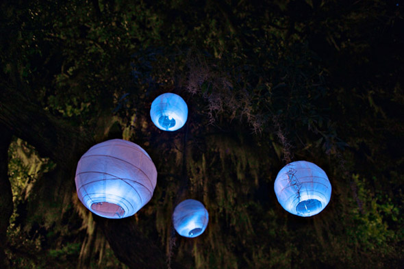 outdoor wedding lanterns St. Simons Island, Georgia Destination Wedding