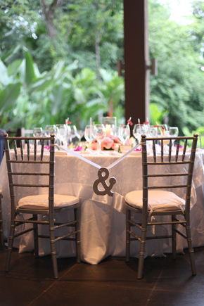 sweetheart chairs Costa Rica Destination Wedding