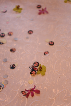 wedding confetti Costa Rica Destination Wedding