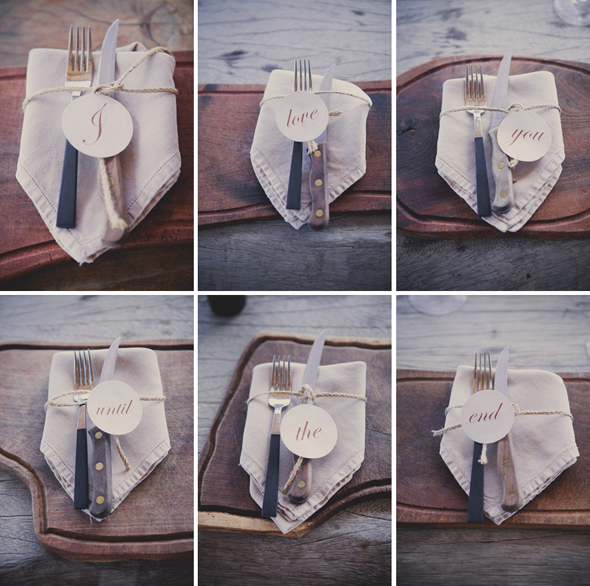wedding napkin treatments