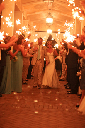 wedding sparklers1 Destination Wedding in Naples, Florida