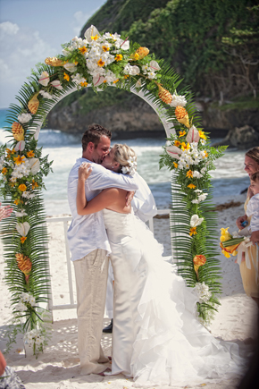 barbados beach wedding locations Destination Wedding on a Boat in Barbados