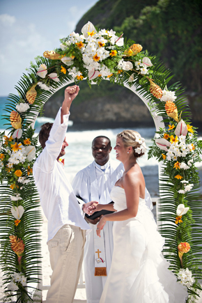 barbados beach weddings Destination Wedding on a Boat in Barbados