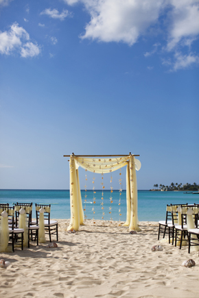 beach wedding arches Destination Wedding in the Bahamas