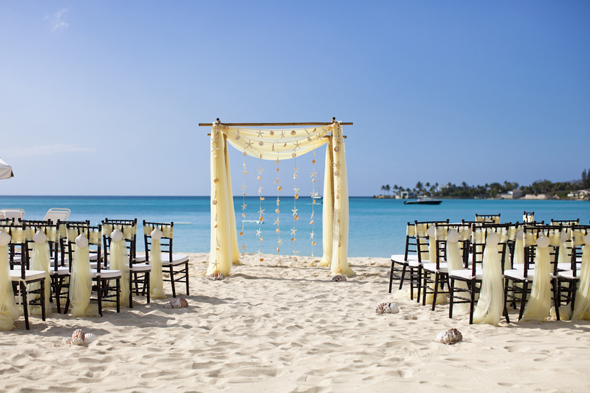 beach wedding setups Destination Wedding in the Bahamas
