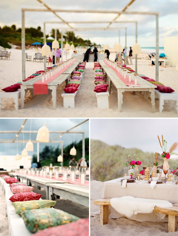 Memorable Wedding Beach Wedding Reception Decoration Ideas