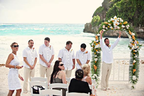 beach weddings2 Destination Wedding on a Boat in Barbados